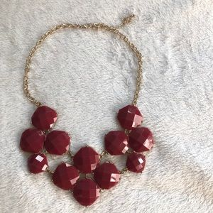 Maroon statement necklace